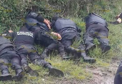 Huachicoleros disparan a policías, mueren 5 uniformados