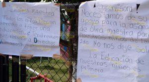 Padres Familia Protestan Falta Maestro Jardín Niños Buena Vista Tihuatlán