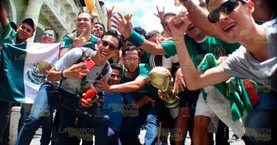 Así celebraron el triunfo de México en la Capital de Veracruz