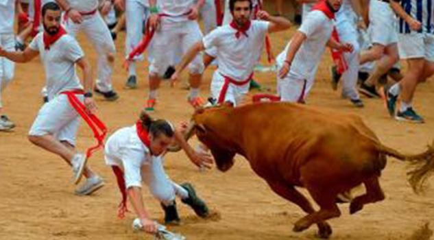 Al Menos Nueve Heridos Encierros Toros San Fermín
