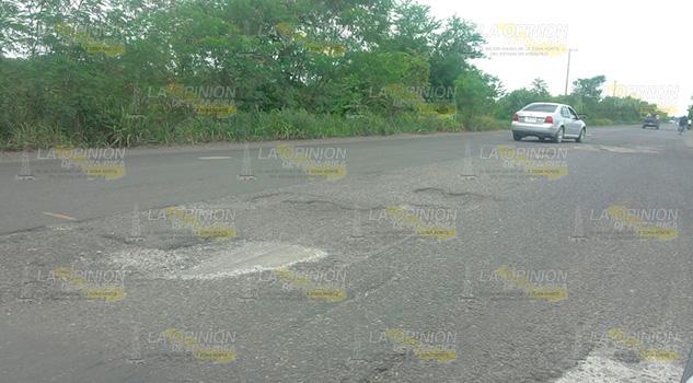 Carretera Álamo Potrero del Llano Requiere Reparación