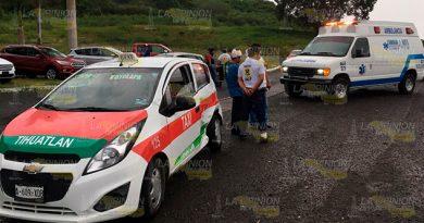 El accidente tuvo lugar sobre la carretera México Tuxpan, a la altura de la agencia de ventas automotriz