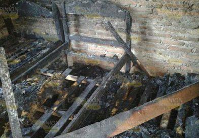 Explosión destruye vivienda, tenía fuga en el cilindro de gas