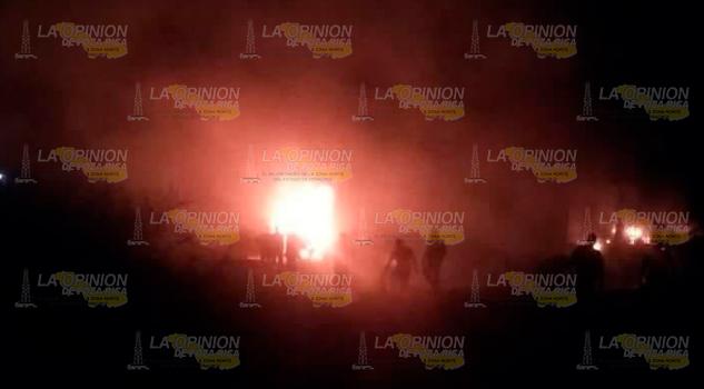Se Incendian Tamiahua Dos Tractocamiones Empresa GDI