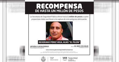 Ofrecen Millón Pesos Reveriano Pérez Vega El Pelón