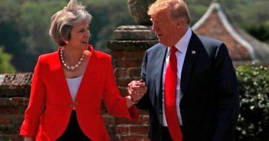 Theresa May Trump Dijo Debería Demandar Unión Europea