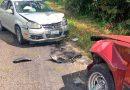 Ebrio conductor casi mata a una familia de Tuxpeños, tras invadir carril contrario