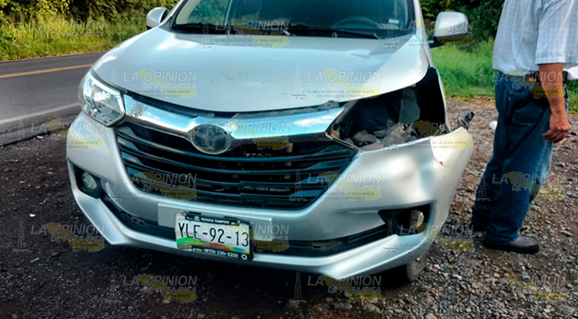 Camioneta Impacta Semoviente Sobre Tuxpan Tampico