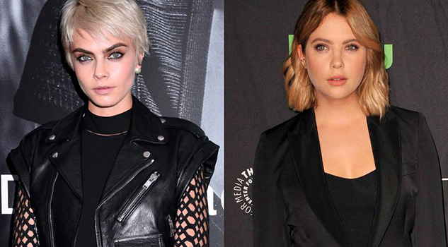 Captan Cara Delevingne Ashley Benson Besándose