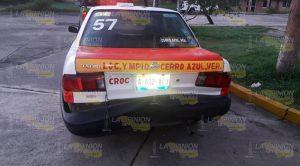 Choque Entre Taxista Particular Deja Cuantiosos Daños Materiales