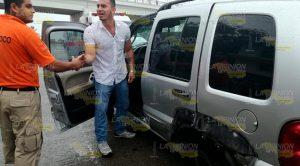 Ileso Tras Estrellarse Contra Muro Contención Tuxpa Poza Rica
