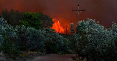 Incendio Obliga Evacuación Personas Dos Pueblos Isla Griega Eubea