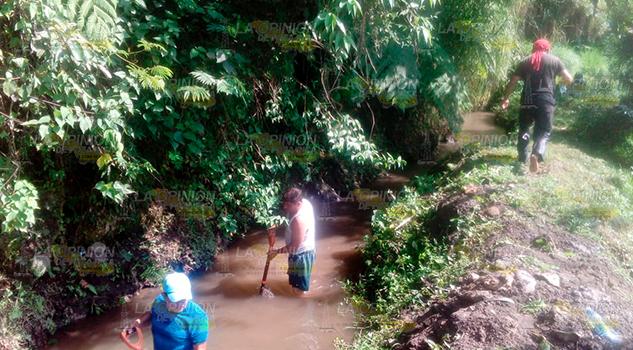 Inician Limpieza Zona Captación Agua Tlapacoyan