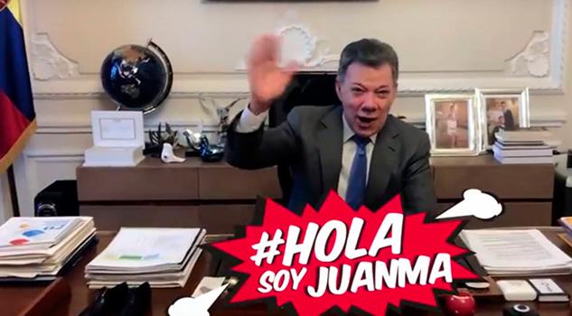 Juan Manuel Santos Presidente Colombia Youtuber Por Día