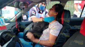 Maestra Resulta Lesionada Accidente Entre Taxis Tuxpan