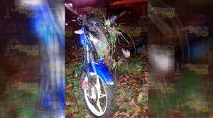 Motocicleta Derrapa Curva El Peñon Dos Heridos