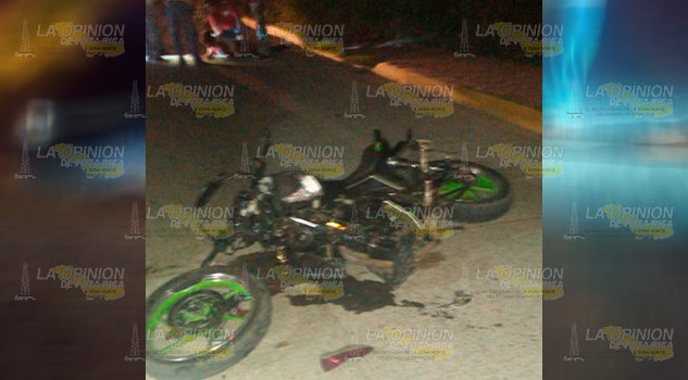 Motociclista Choca Contra Auto Estacionado Tecolutla