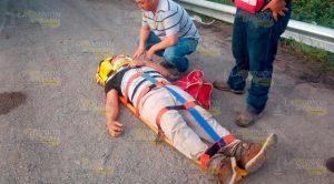 Obreros Resultan Lesionados Tras Fuerte Choque