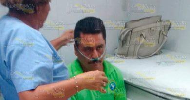 Paramédicos Atienden Empleado DICONSA Papantla