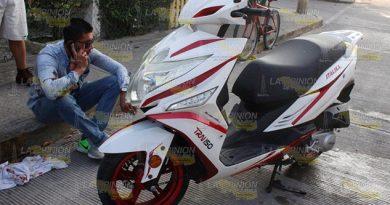 Persona Estado Etílico Derrapa Motocicleta