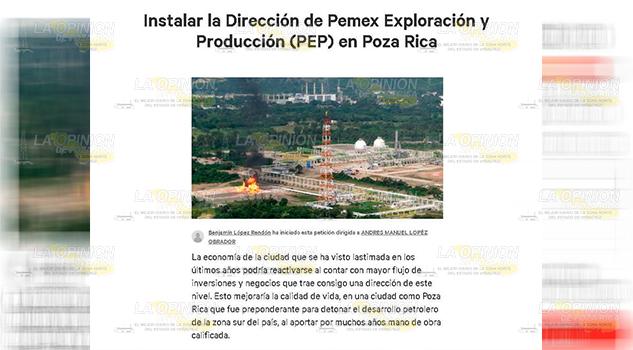 Solicitud Instalación PEP Poza Rica Lleva 1 Mil 326 Firmas