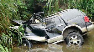 Trágica Muerte Pierde Control Cae Descargue Pluvial
