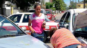 Ama Casa Resulta Lesionada Choque Entre Taxi Particular