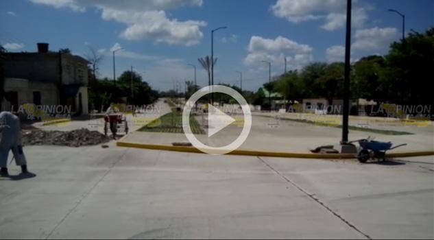 Avanza Obra Pavimentación Construcción Bulevar
