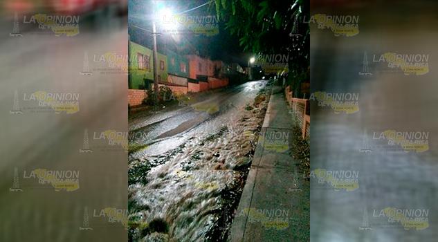 Fuga Agua Descomunal Fraccionamiento Poza Rica