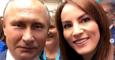 Gabriela Cuevas Comparte Selfie Vladimir Putin