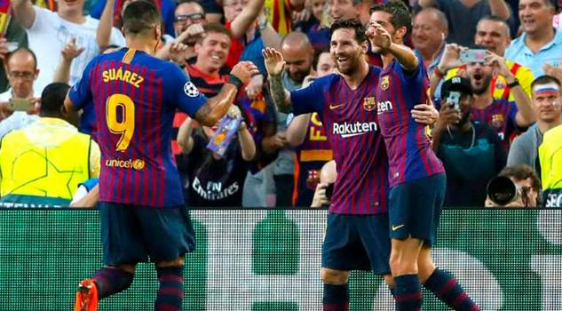 Messi brilla y guía goleada del Barça sobre el PSV