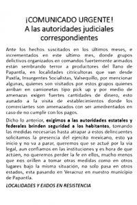 Pobladores Región Llano Exigen Seguridad
