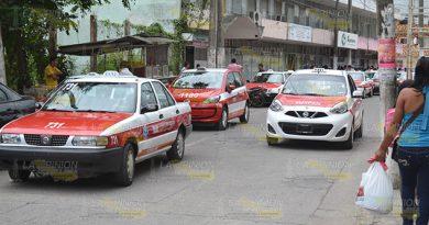 Taxistas suben el pasaje colectivo en Tuxpan