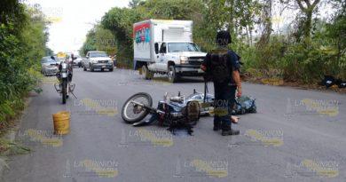 Se accidenta policía municipal de Papantla, fue trasladado de emergencia