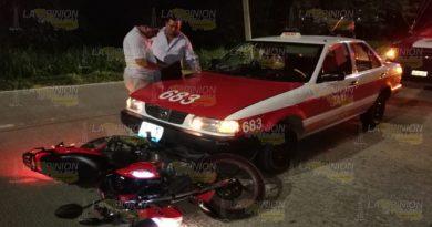 Jovencita es arrollada por taxista en la carretera Tuxpan-Tamiahua