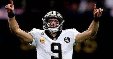¡Histórico! Drew Brees rompe récord de más yardas por aire en la NFL