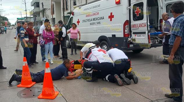 Autobús atropella a sexagenaria en Madero