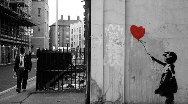 Banksy revela su plan de autodestrucción del cuadro Niña con un Globo