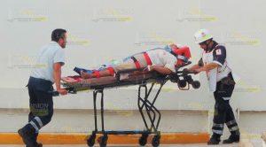 Encontronazo Carretera Federal 180 4 Heridos