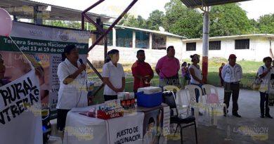 Inicia campaña de vacunación en Coatzintla