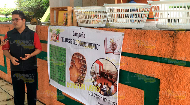 Instalan centro de acopio en la pérgola del parque Juárez
