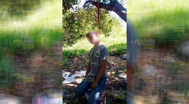 Joven se colgó de un árbol en Tlapacoyan