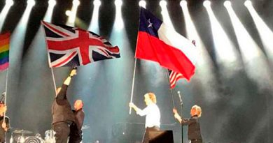 McCartney confunde bandera de Chile con la de Texas