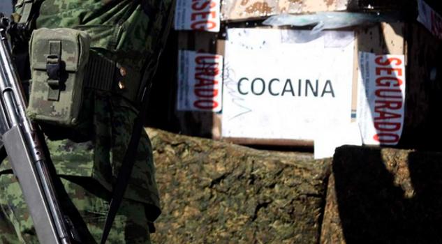 Sedena asegura 740 kilos de droga y precursores en Baja California