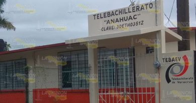 Telebachilleratos de Tuxpan afectados