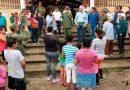 Alcalde de Álamo visita a las comunidades más afectadas por las fuertes lluvias