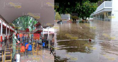 Planteles educativos de Álamo, severamente afectados por la inundación del domingo