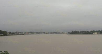 Reporta PC que en Tuxpan, el río no representa problema