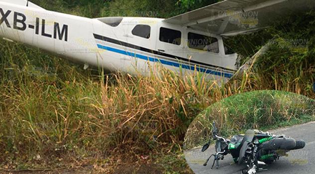 Avioneta mata a motociclistas