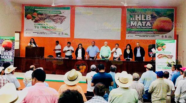 El Comite Estatal de Sanidad Vegetal, imparte taller a productores de Álamo